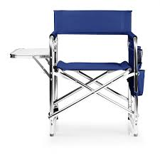 Low Back Lawn Chairs Amazon Com Picnic Time Portable Folding U0027sports Chair U0027 Navy