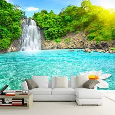 natural scenery 3d wall mural forest waterfalls pools photo natural scenery 3d wall mural forest waterfalls pools photo wallpaper 3d room