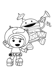 team umizoomi coloring pages playing music coloringstar
