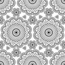 background with black mehndi floral henna seamless lace buta