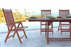 amazon com vifah v144set1 outdoor wood 7 piece dining set with