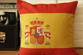 Shabby Chic Chair Pads by Aliexpress Com Buy Cojines Spanish Flag Pillow Covers Chair