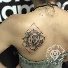 black diamond tattoo glyfada black diamond tattoo on twitter so simple geometric rose tattoo