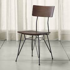 Metal Dining Chairs Elston Dining Chair Reviews Crate And Barrel