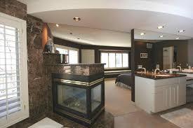 unified master bedroom design platform beds sensuous open bathroom