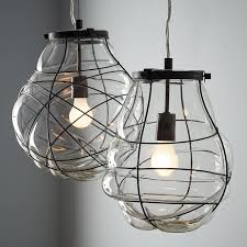 hanging glass pendant lights likeable kitchen attractive blown glass pendant lighting organic in