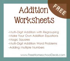 free addition worksheets make your own addition equations three