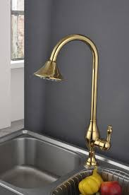 2014 new golden color copper kitchen sink shower faucet fashion