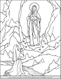 our lady of lourdes coloring page to print 8211