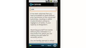 canvas human resources warning letter of absence mobile app youtube