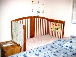 Baby Crib Next To Bed Peaceful Parenting Turn Your Crib Into A Cosleeper