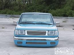 nissan frontier bagged 1998 nissan frontier blue curse mini truckin u0027 magazine