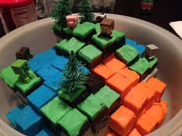 the minecraft cake that i made for my girlfriend imgur