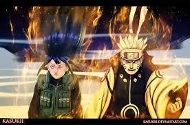 naruto and hinata fight toghether u2013 naruto 615 daily anime art