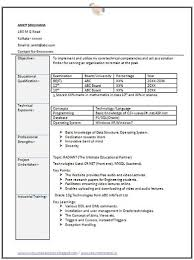 resume format for freshers engineers information technology career page 6 scoop it