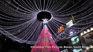 Christmas Lights Festival by Christmas Tree Festival In Busan South Korea Youtube