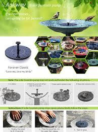 amazon com ankway solar bird bath fountain pump 1 4w free