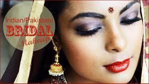 pakistani indian bridal makeup full face smokey eyes contouring