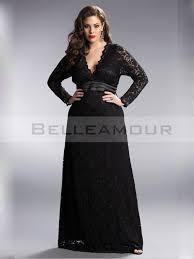 robe de soirã e grande taille pas cher pour mariage robe de soirée grande taille longue col v manche dentelle noir à