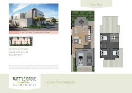 wattle grove boutique townhomes for sale at cannon hill brisbane renders floorplan