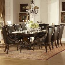 Dark Dining Room Table by Homelegance Orleans 9 Piece Double Pedestal Dining Room Set In
