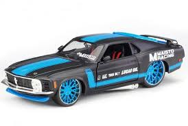 1970 Black Mustang Black Blue 1 24 Scale Diecast 1970 Ford Mustang Boss 302 Model