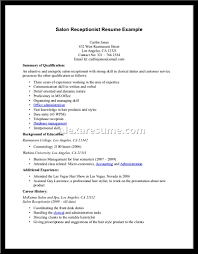 Receptionist Resume Sample Cover Letter Receptionist Resume Samples Receptionist Resume