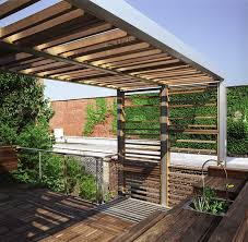 Pergola Deck Designs by Landscape Trellis Designs Urban Trellis Roof Deck Modern Deck New