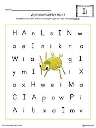 short letter i beginning sound picture match worksheet color