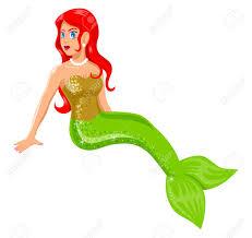cartoon illustration of a mermaid royalty free cliparts vectors
