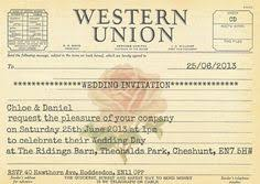 telegram wedding invitation vintage telegram wedding invitations wedding nuntă