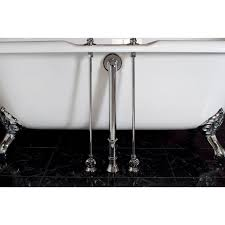 plumbing clawfoot tub water supply lines for deck mounted tub faucets
