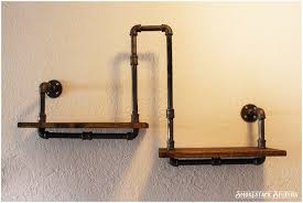 Wooden Wall Shelves With Brackets Rustic Industrial Wall Shelf Rustic Industrial Shelf Brackets