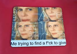 Meme Lady - math lady confused inspired meme mouse mat pad pc laptop gaming