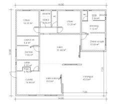 plan villa plain pied 4 chambres plan maison carree 4 chambres