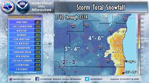 Kohler Wisconsin Map by Winter Storm Brings Impressive Snow Totals Updated 6 Am 3 19