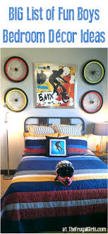boy bedroom decorating ideas 18 boys bedroom decor ideas creative tips the frugal girls