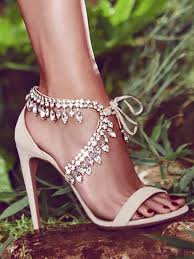 wedding shoes jeweled heels jeweled sandals heels with straps product