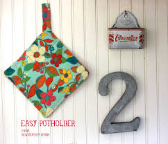 sewing with kids easy potholder