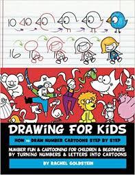 drawing kids draw number cartoons step step number