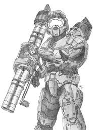 halo warthog drawing chief with a rocket launcher halo pinterest master chief