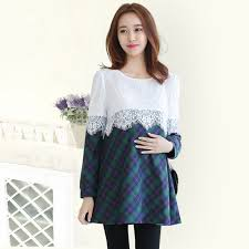 Maternity Plaid Shirt Online Get Cheap Blouse Maternity Aliexpress Com Alibaba Group