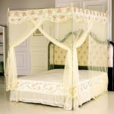 poster bed canopy curtains fascinating tufted headboard with cream floral transparency bed
