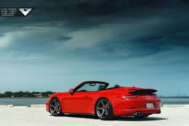 red porsche 911 red porsche 911 carrera 4s lowered on vorsteiner wheels gtspirit