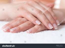 beautiful female hands perfect nail french stock photo 138840740