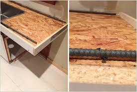 how to build a concrete sink diy pour in place concrete countertops part 1 diy concrete