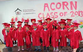 pre k cap and gown preschoolers don caps and gowns for acorn graduation san org