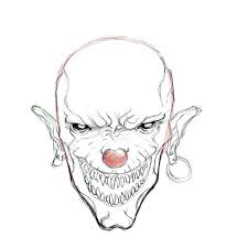 evil clown drawings drawing factory