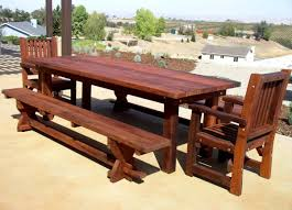 Building Outdoor Wooden Tables by Outdoor Wooden Table And Benches 19 Home Design With Outdoor