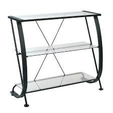 Steel Frame Bookcase Office Star Hzn27 Horizon 3 Shelf Bookcase With Black Powder
